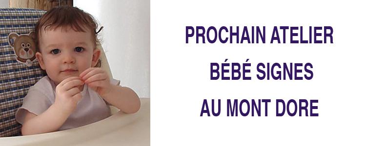 Atelier Bébé Signes – Mont-Dore
